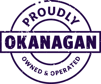 Proudly Okanagan Owned and Operated stamp