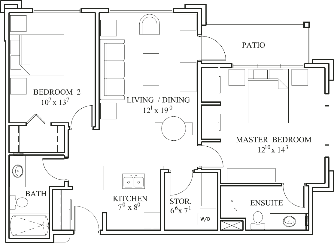 Southwood - Elmwood suite plan