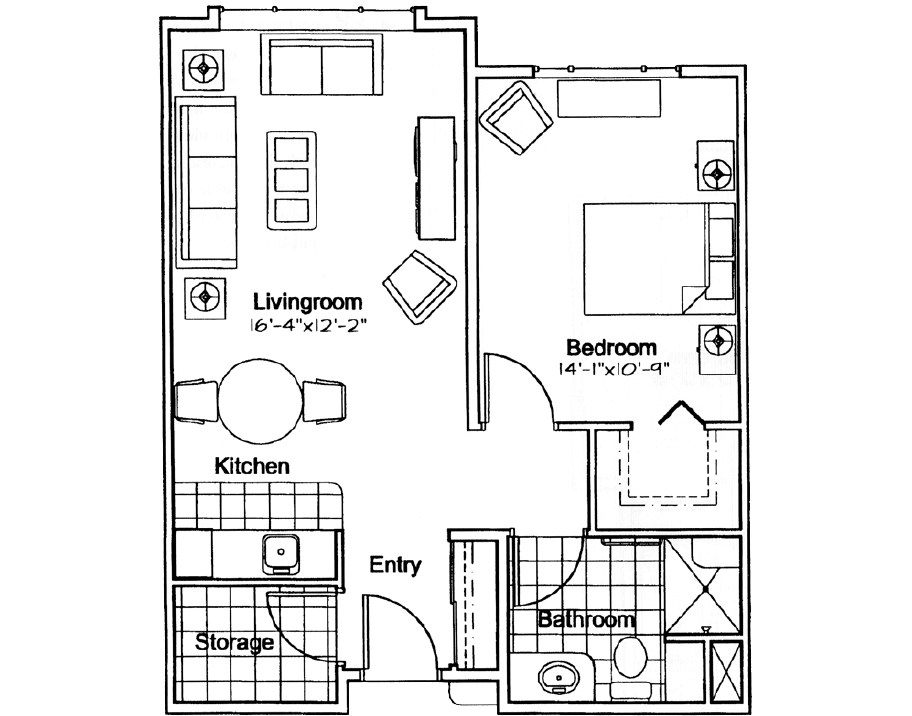 Southwood - Applewood suite plan