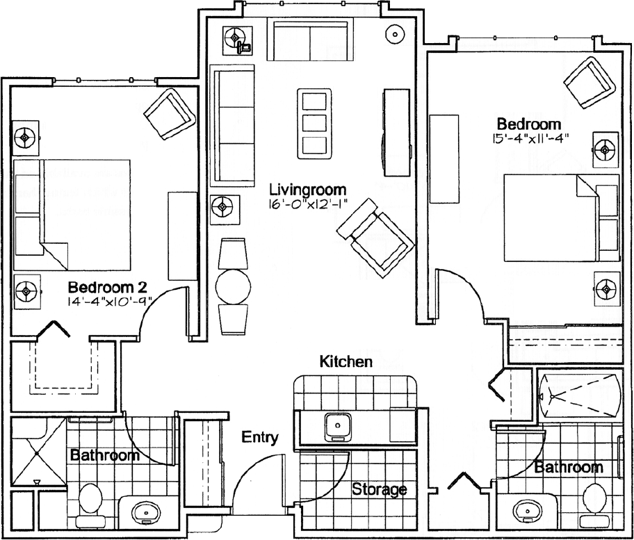 Southwood - Cherrywood suite plan