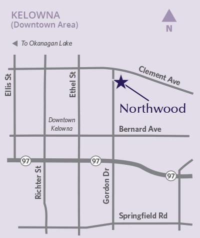 Northwood location map