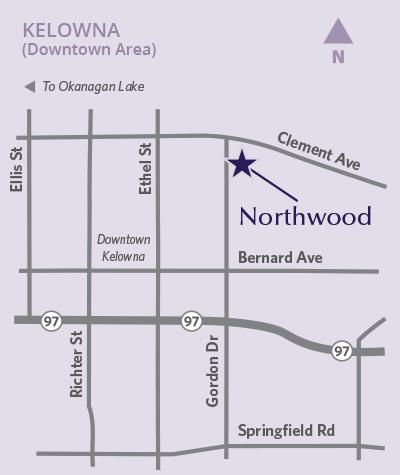Northwood location map