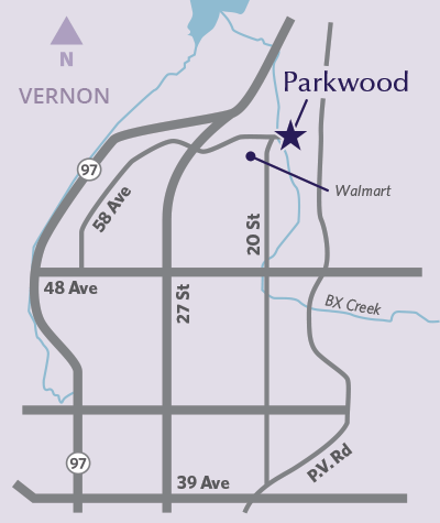 Parkwood location map