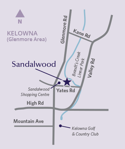 Sandalwood location map