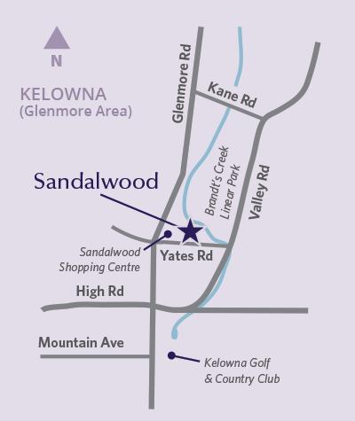 Sandalwood location map
