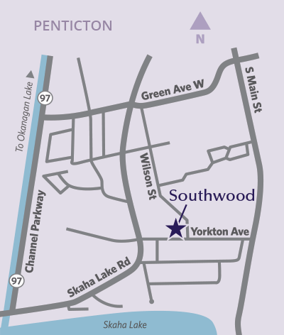 Southwood location map