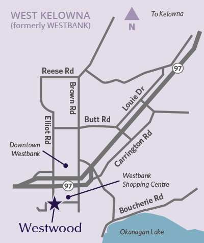 Westwood location map