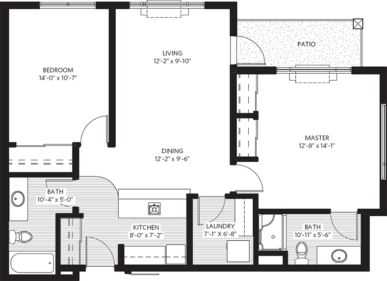 Parkwood Elmwood suite plan